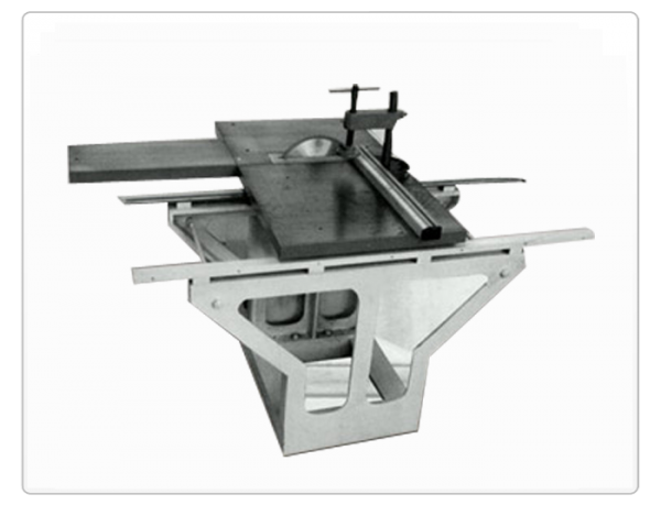 Circular saw sliding trolley machine